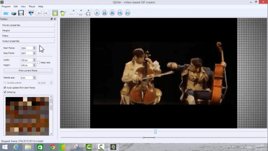 شرح طريقة تحويل جزء معين من فيديو الى صورة متحركة GIF