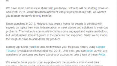 Photo of جوجل تقرر غلق Helpouts بشكل نهائى