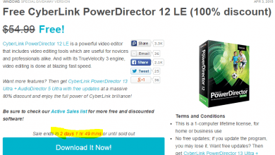 Photo of سارع بالحصول على برنامج CyberLink PowerDirector 12 نسخة قانونية