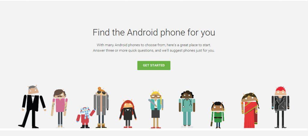 اداة جديدة من جوجل تسهل الاختيار بين هواتف الاندرويد