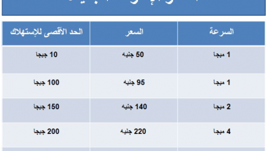 Photo of تعرف على اسعار الانترنت الجديدة و الصادمة