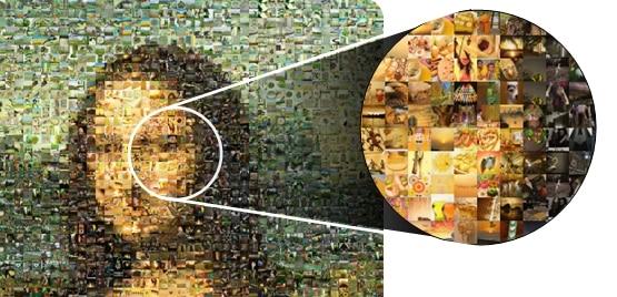 تطبيق للاندرويد  لتحويل صورك الى صور موزاييك