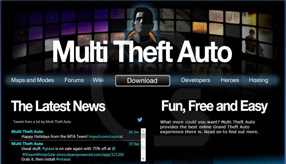 تحميل لعبة GTA Multi Theft Auto للعب اون لاين