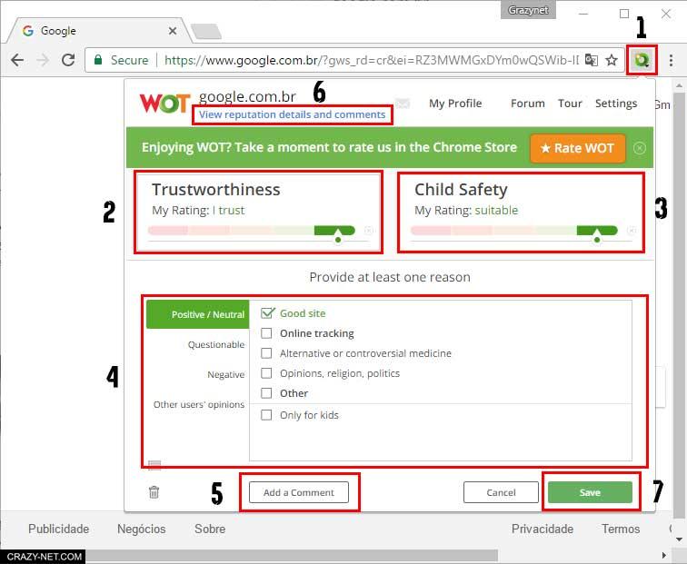 معرفة مصداقية الموقع قبل الدخول اليه لتصفح أمن لك و لأطفالك