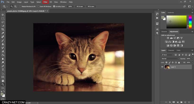 شرح التظليل و التشويش على الصور باستخدام الفوتوشوب بأكثر من طريقة