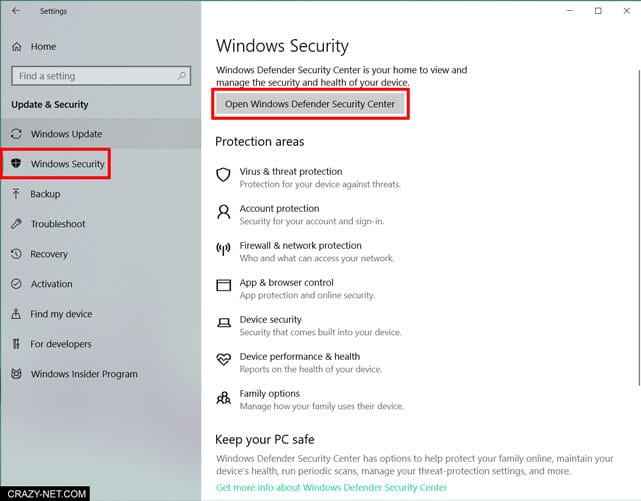 كيف تعطيل windows defender في ويندوز 10