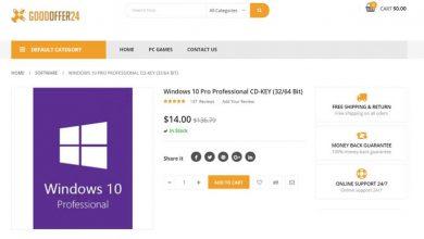 Photo of خصم كبير من Goodoffer24 بنسبة 85٪ علي  ويندوز 12.60$ و مايكروسوفت اوفيس 28.53$