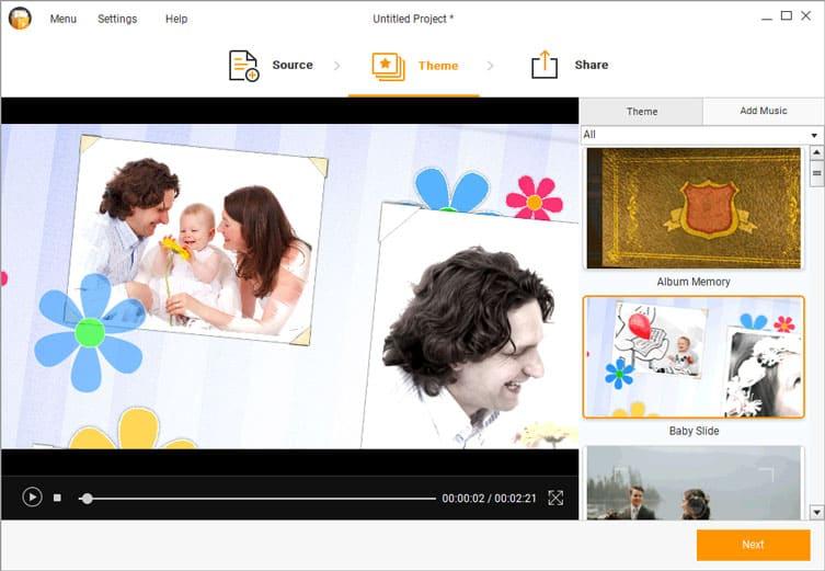 افضل برنامج لتحويل الصور الى شرائح و فيديو بتصميمات مميزة